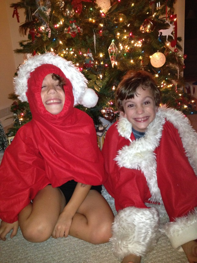 And the award for most creative use of a Santa costume goes to...